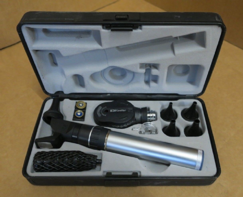 Keeler 1729-P-1019 Practitioner Otoscope Ophthalmoscope Slim Diagnostic Set